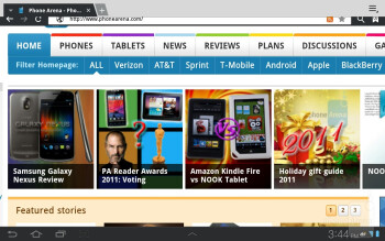 Web browsing with the Samsung Galaxy Tab 8.9 LTE - Samsung Galaxy Tab 8.9 LTE Review