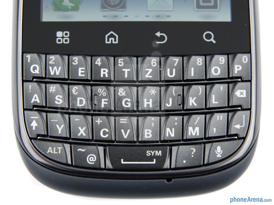 The portrait QWERTY keyboard on the Motorola PRO+ - Motorola PRO+ Review