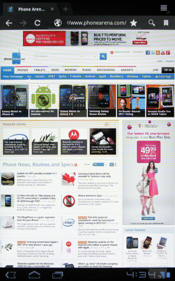 Web browser - T-Mobile SpringBoard Review