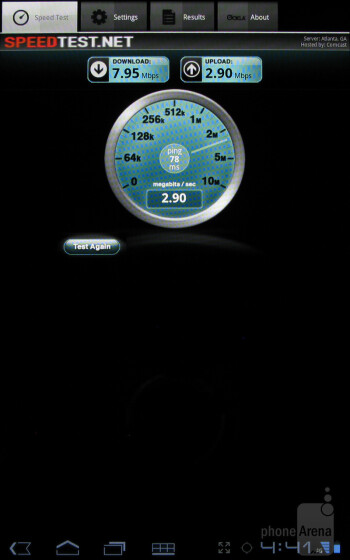 The SpeedTest.net app - Web browser - T-Mobile SpringBoard Review