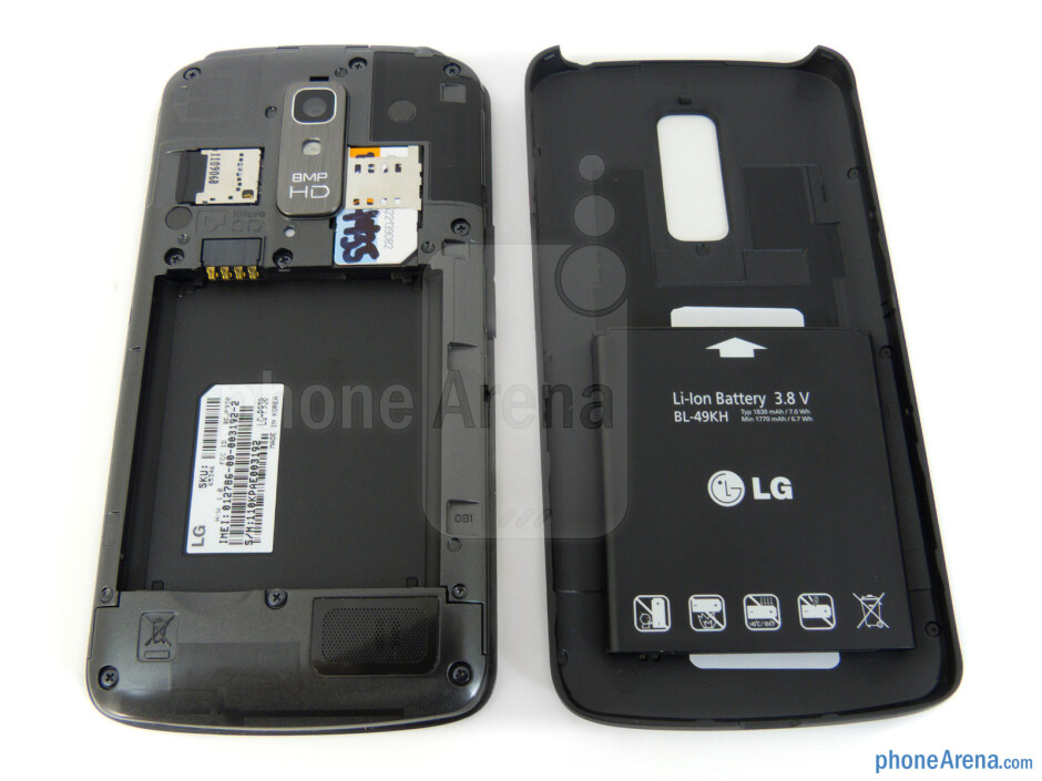 The back has a patterned design - LG Nitro HD Review