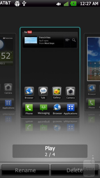 The interface of the LG Nitro HD - Samsung Galaxy Note LTE vs LG Nitro HD