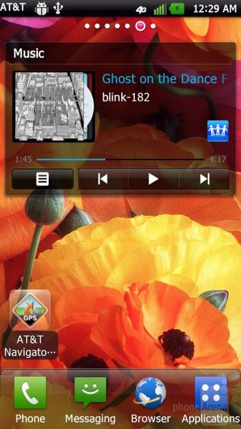 The  LG Nitro HD runs with LG's Optimus UI installed on top of Android 2.3 - LG Nitro HD vs Samsung Galaxy S II Skyrocket