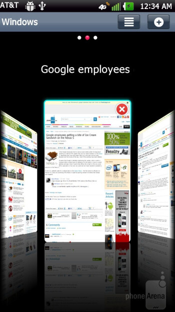 Web browsing experience with the LG Nitro HD - Samsung Galaxy Note LTE vs LG Nitro HD
