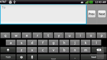 Typing up messages - LG Nitro HD Review