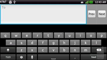 Typing up messages on the  LG Nitro HD - LG Nitro HD vs Samsung Galaxy S II Skyrocket