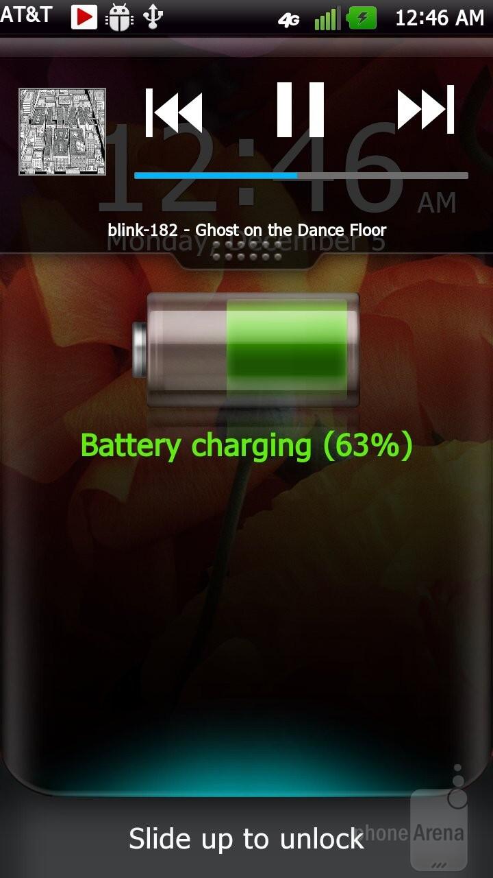 The Optimus UI 2.0's media player - Samsung Galaxy Note LTE vs LG Nitro HD