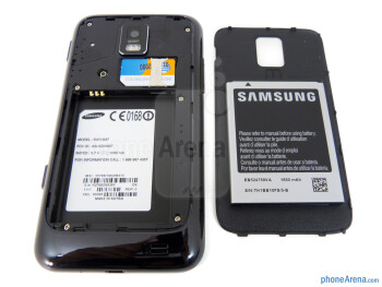 Back cover removed - Samsung Focus S Review
