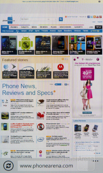 The browser of the Samsung Focus S - Samsung Focus S Review