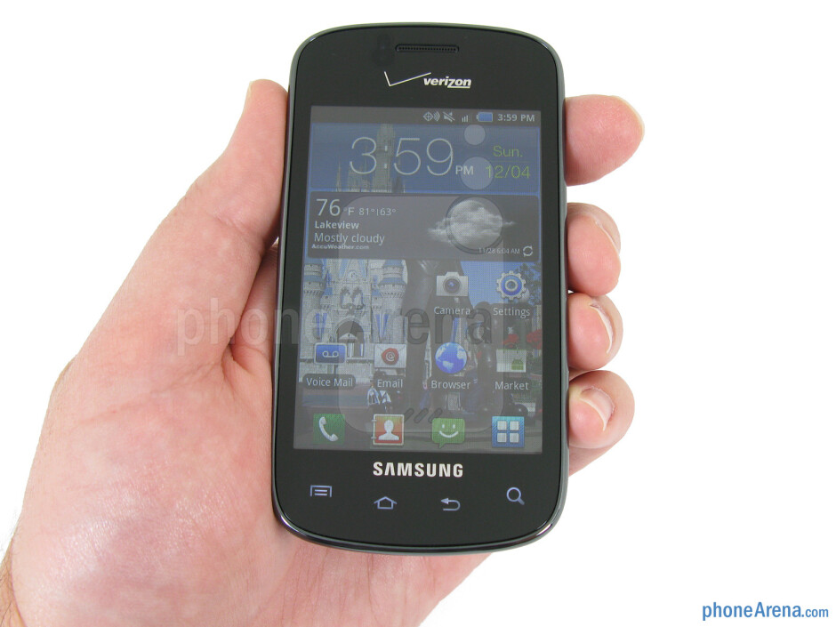 The Samsung Illusion is compact and fits comfortably in the hand - Samsung Illusion Review