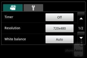Camera interface - Samsung Illusion Review