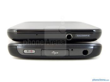 Top - The LG Nitro HD (bottom) and the Samsung Galaxy S II Skyrocket (top) - LG Nitro HD vs Samsung Galaxy S II Skyrocket