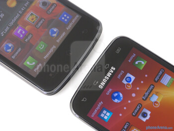 Android buttons - The LG Nitro HD (left) and the Samsung Galaxy S II Skyrocket (right) - LG Nitro HD vs Samsung Galaxy S II Skyrocket