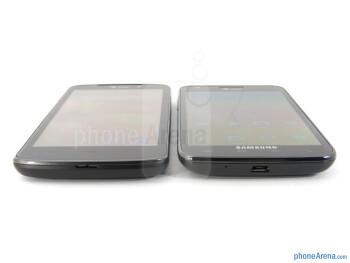 The LG Nitro HD (left) and the Samsung Galaxy S II Skyrocket (right) - LG Nitro HD vs Samsung Galaxy S II Skyrocket