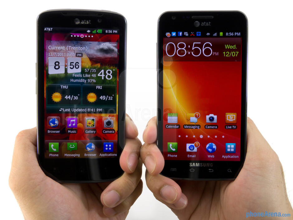 LG Nitro HD vs Samsung Galaxy S II Skyrocket