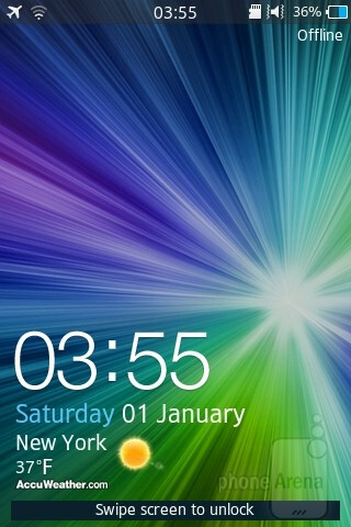 The Samsung Wave M comes with the TouchWiz UI - Samsung Wave M Review