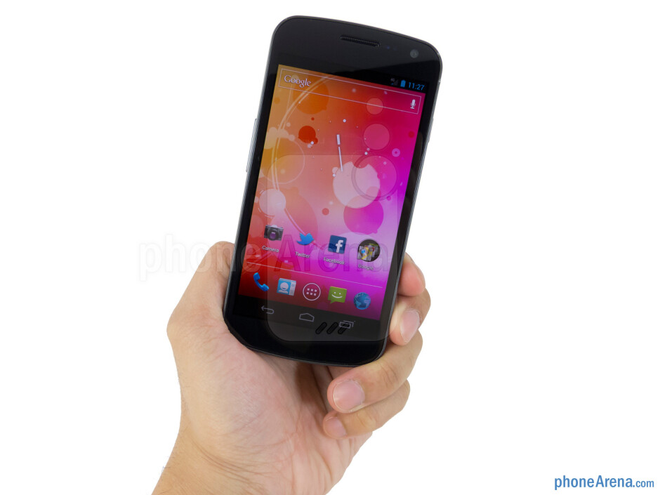 The Verizon Galaxy Nexus is very comfortable to hold thanks to the Hyper Skin finish in the rear and its balanced weight - Verizon Galaxy Nexus Review