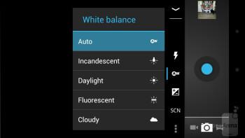 The camera interface of the Verizon Galaxy Nexus - Verizon Galaxy Nexus vs HTC Rezound
