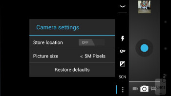 The new camera interface - Verizon Galaxy Nexus Review