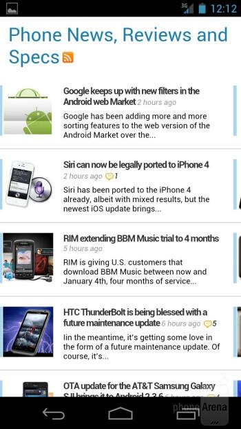 Web browsing with the Verizon Galaxy Nexus - Verizon Galaxy Nexus Review