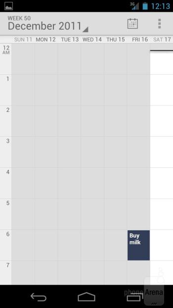The Calendar has been swipe-enabled - Verizon Galaxy Nexus Review