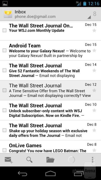 Email app - Verizon Galaxy Nexus Review