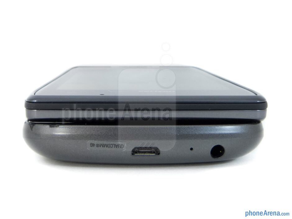 Bottom - The sides of the Verizon Galaxy Nexus (bottom) and the Motorola DROID RAZR (top) - Verizon Galaxy Nexus vs Motorola DROID RAZR