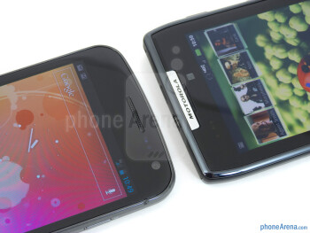 Front-facing cameras - The Verizon Galaxy Nexus (left) and the Motorola DROID RAZR (right) - Verizon Galaxy Nexus vs Motorola DROID RAZR