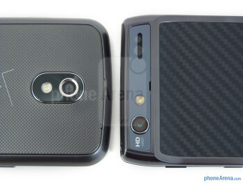 Rear cameras - The Verizon Galaxy Nexus (left) and the Motorola DROID RAZR (right) - Verizon Galaxy Nexus vs Motorola DROID RAZR