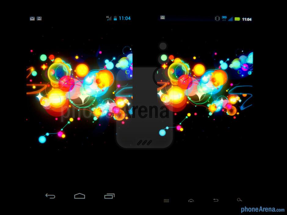The Verizon Galaxy Nexus (left) and the Motorola DROID RAZR (right) - Verizon Galaxy Nexus vs Motorola DROID RAZR