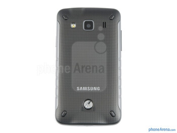 Back - The battery compartment of Samsung Galaxy Xcover - Samsung Galaxy Xcover Review