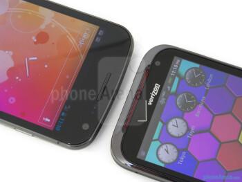 Front-facing cameras - Verizon Galaxy Nexus (left) and HTC Rezound (right) - Verizon Galaxy Nexus vs HTC Rezound