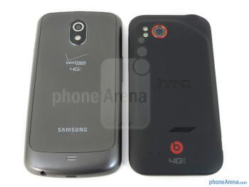Verizon Galaxy Nexus (left) and HTC Rezound (right) - Verizon Galaxy Nexus vs HTC Rezound
