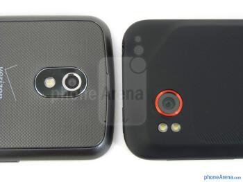 Rear cameras - Verizon Galaxy Nexus (left) and HTC Rezound (right) - Verizon Galaxy Nexus vs HTC Rezound