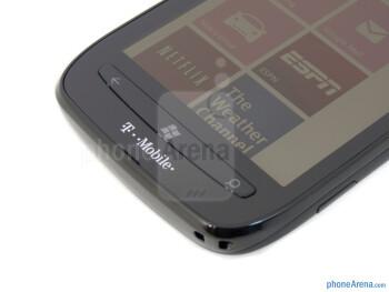 The Nokia Lumia 710 employs physical Windows buttons - Nokia Lumia 710 Review