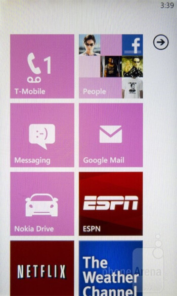 The Metro UI of the Nokia Lumia 710 - Nokia Lumia 710 Review