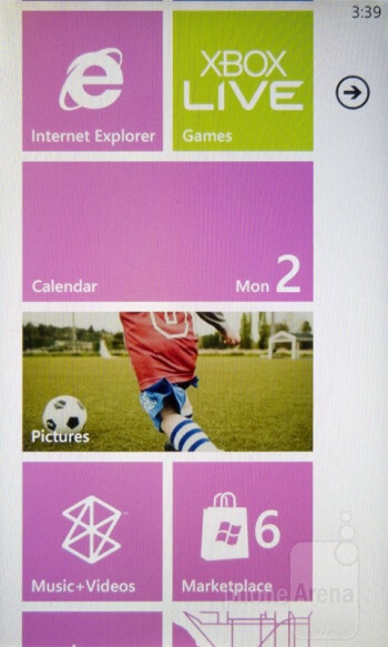 The Metro UI of the Nokia Lumia 710 - Nokia Lumia 710 Review