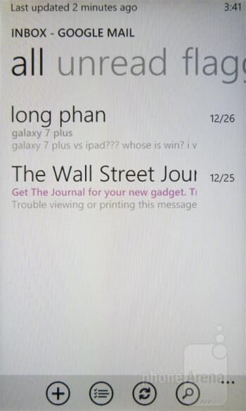 Email - Nokia Lumia 710 Review