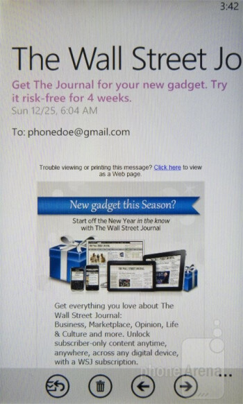 Email - Nokia Lumia 710 Review