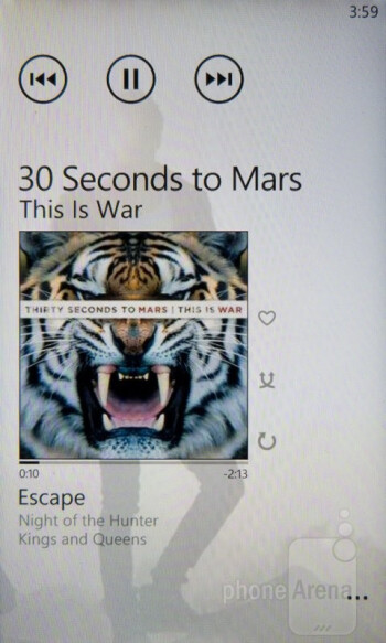 Music player - Nokia Lumia 710 Review