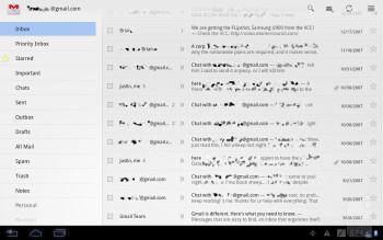 Email of the Motorola DROID XYBOARD 10.1 - Apple iPad 3 vs Motorola DROID XYBOARD 10.1