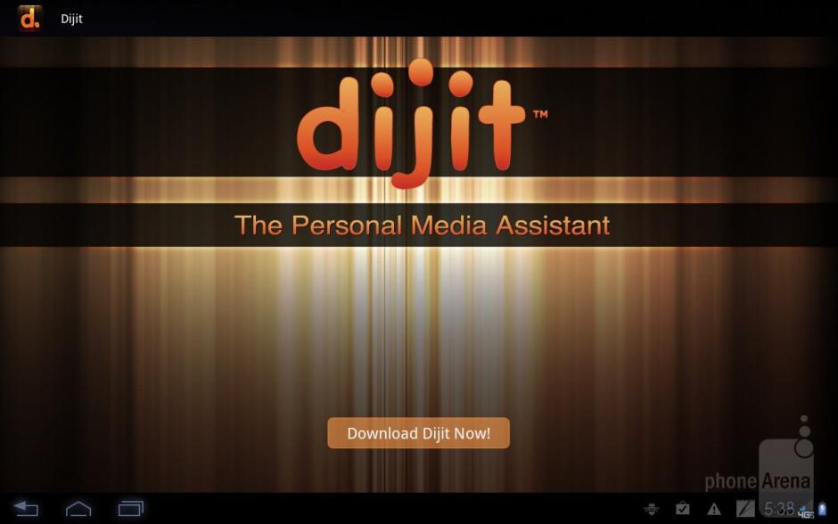 Dijit personal media application - Motorola DROID XYBOARD 10.1 Review