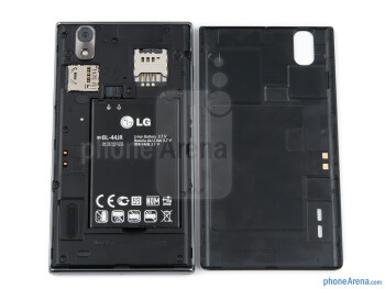 Battery compartment - LG Prada 3.0 Review