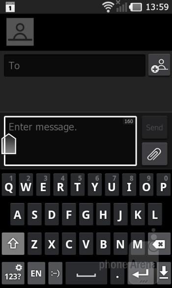 On-screen keyboard - LG Prada 3.0 Review