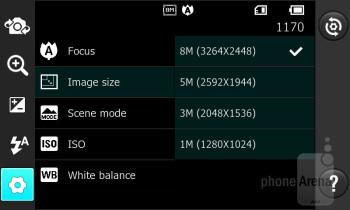 Camera interface - LG Prada 3.0 Review