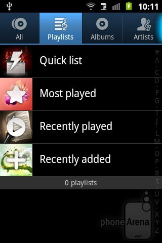 Music player - Samsung Galaxy Ace Plus Review