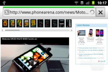 The web browser - Samsung Galaxy Ace Plus Review