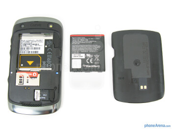 Battery compartment - RIM BlackBerry Curve 9370 Review
