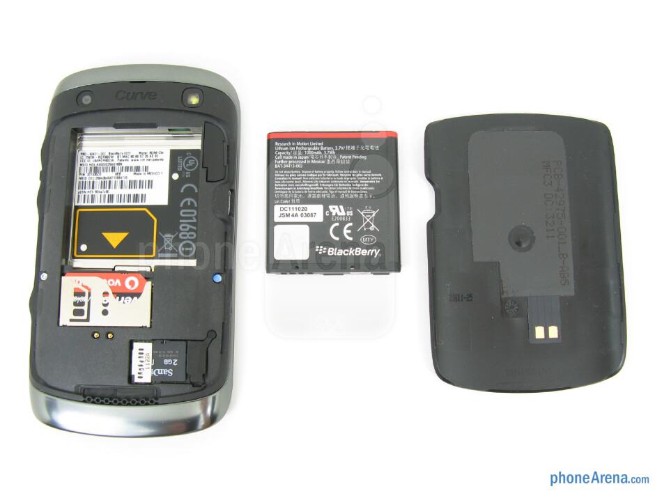 Battery compartment - RIM BlackBerry Curve 9370 Review