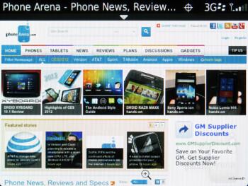 Web browser - RIM BlackBerry Curve 9370 Review